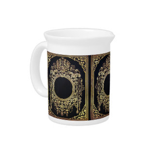 Falln Ornate Gold Frame (Perfect for a Monogram!) Beverage Pitcher