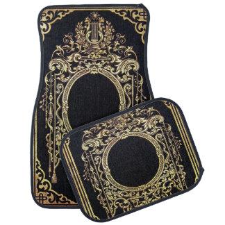 Falln Ornate Gold Frame (Perfect for a Monogram!) Car Floor Mat