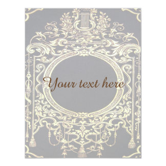 Falln Ornate Gold Frame (Perfect for a Monogram!) Card
