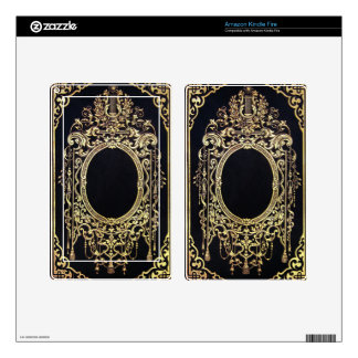 Falln Ornate Gold Frame (Perfect for a Monogram!) Decal For Kindle Fire