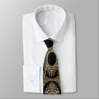 Falln Ornate Gold Frame (Perfect for a Monogram!) Neck Tie