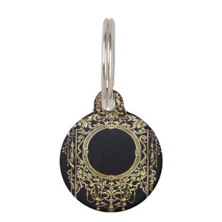 Falln Ornate Gold Frame (Perfect for a Monogram!) Pet ID Tag