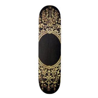 Falln Ornate Gold Frame (Perfect for a Monogram!) Skateboard Deck