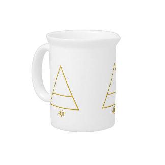 Falln Pagan Air Element Symbol Beverage Pitcher