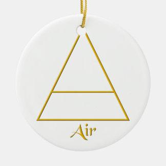 Falln Pagan Air Element Symbol Ceramic Ornament