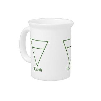 Falln Pagan Earth Element Symbol Beverage Pitcher