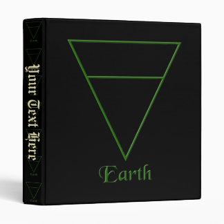 Falln Pagan Earth Element Symbol Binder