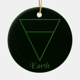 Falln Pagan Earth Element Symbol Ceramic Ornament