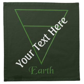 Falln Pagan Earth Element Symbol Cloth Napkin