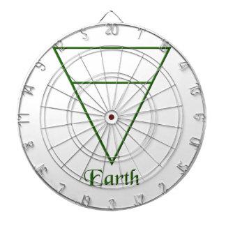 Falln Pagan Earth Element Symbol Dartboard With Darts
