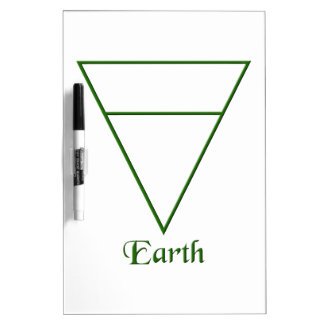 Falln Pagan Earth Element Symbol Dry-Erase Board