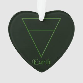 Falln Pagan Earth Element Symbol Ornament