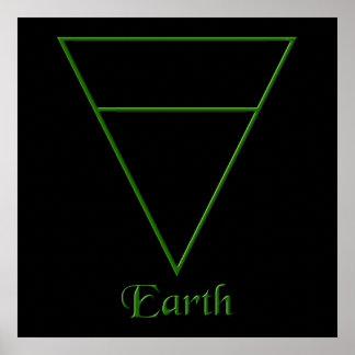 Falln Pagan Earth Element Symbol Poster