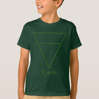 Falln Pagan Earth Element Symbol T-Shirt