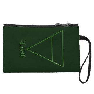 Falln Pagan Earth Element Symbol Wristlet Wallet