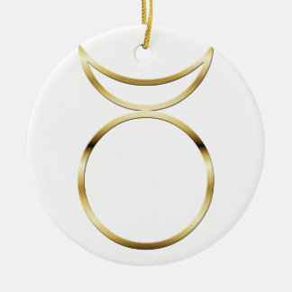 Falln Pagan Horned God Symbol Ceramic Ornament