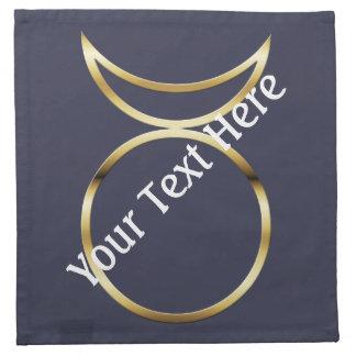 Falln Pagan Horned God Symbol Cloth Napkin