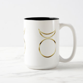 Falln Pagan Horned God Symbol Two-Tone Coffee Mug