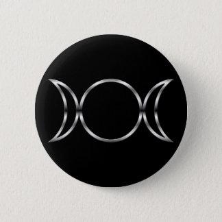 Falln Pagan Triple Goddess Symbol Pinback Button
