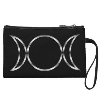 Falln Pagan Triple Goddess Symbol Wristlet Wallet