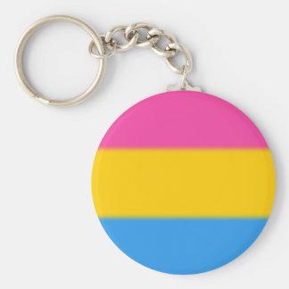 Falln Pansexual Pride Flag Basic Round Button Keychain