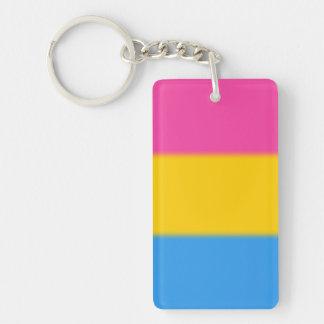 Falln Pansexual Pride Flag Double-Sided Rectangular Acrylic Keychain
