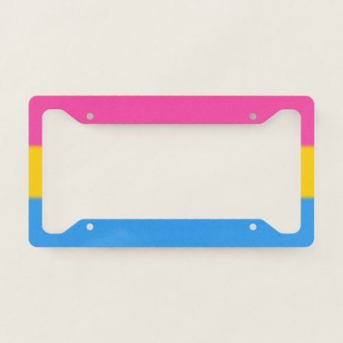 Falln Pansexual Pride Flag License Plate Frame