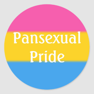 Falln Pansexual Pride Flag (Text) Classic Round Sticker