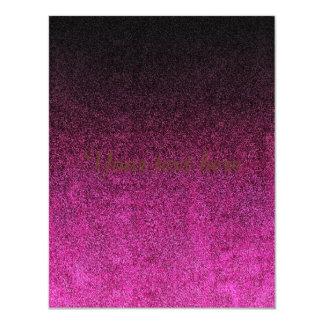 Falln Pink & Black Glitter Gradient Card