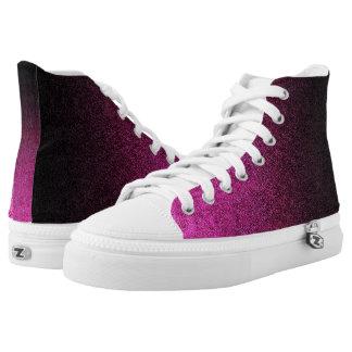 Falln Pink & Black Glitter Gradient High-Top Sneakers