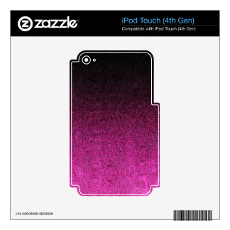 Falln Pink & Black Glitter Gradient iPod Touch 4G Decal