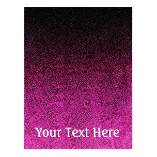 Falln Pink & Black Glitter Gradient Postcard