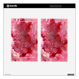 Falln Pink Faerie Crystals Kindle Fire Skin