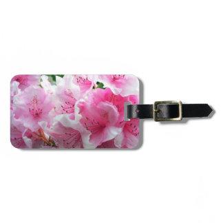 Falln Pink Floral Blossoms Bag Tag