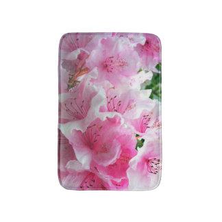 Falln Pink Floral Blossoms Bathroom Mat