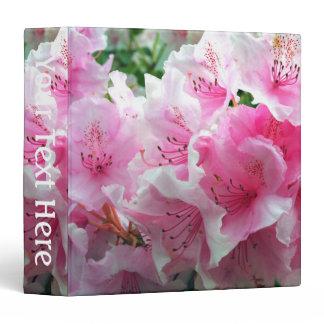 Falln Pink Floral Blossoms Binder