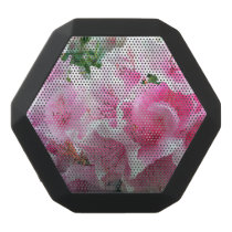 Falln Pink Floral Blossoms Black Bluetooth Speaker
