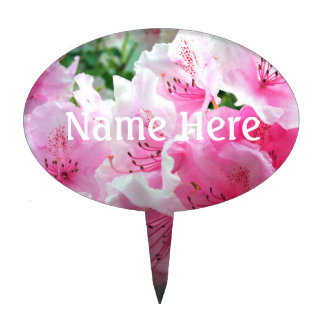 Falln Pink Floral Blossoms Cake Topper