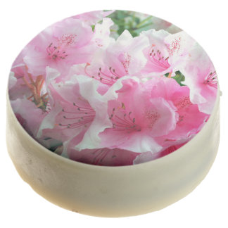 Falln Pink Floral Blossoms Chocolate Dipped Oreo