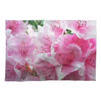Falln Pink Floral Blossoms Hand Towel