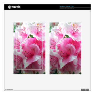 Falln Pink Floral Blossoms Kindle Fire Decals