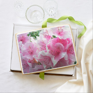 Falln Pink Floral Blossoms Shortbread Cookie