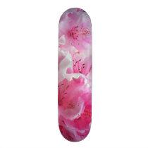 Falln Pink Floral Blossoms Skateboard
