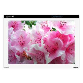 Falln Pink Floral Blossoms Skins For Laptops