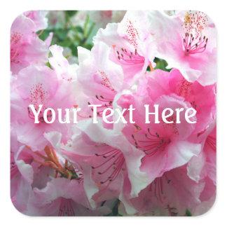 Falln Pink Floral Blossoms Square Sticker