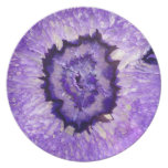 Falln Purple Agate Geode Dinner Plate