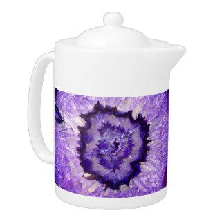 Falln Purple Agate Geode Teapot