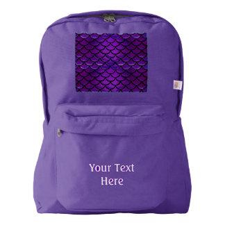 Falln Purple & Blue Mermaid Scales American Apparel™ Backpack