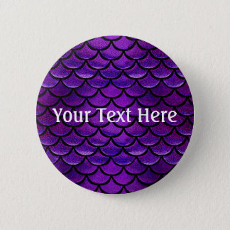Falln Purple & Blue Mermaid Scales Button