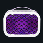 """Falln Purple &amp; Blue Mermaid Scales Lunch Box<br><div class=""""desc"""">Express your inner Mermaid!  Click 'Customize' to add in your own personalized text!</div>"""